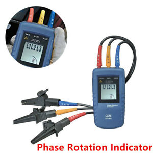 Cem Dt 901 Three 3 Phase Rotation Indicator Tester Meter Accuracy Ac Catiii 600v
