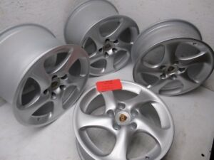 01 05 Porsche 996tt 996 997 C4s Turbo 18 Oem Wheels Rims Front Rear Wide Body