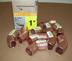 10 Everbilt Nibco 1 Copper Pressure 45 Degree Ftg X Cup Street Elbow Wrot