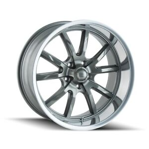 Cpp Ridler 650 Wheels 18x8 5x4 5 Gray Polished Lip