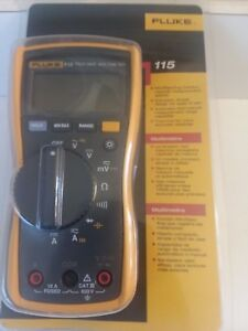 Fluke 115 Compact True rms Digital Multimeter Cat Iii 600 V Safety Rated Sealed