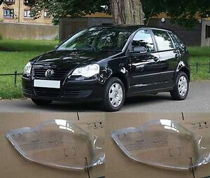For Volkswagen Polo 2006 2010 Lh And Rh Front Kit For Cover Lens Headlights