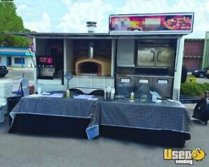 2016 8 5 X 20 Wood fired Oven Pizza Concession Trailer For Sale In Florida