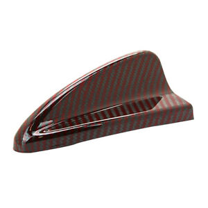 Universal Dark Red Carbon Fiber Roof Shark Fin Dummy Decorative Antenna Trim