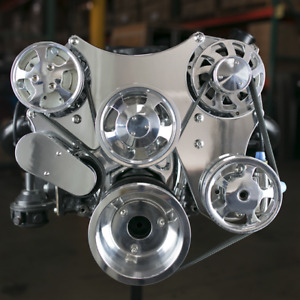Small Block Chevrolet Chrome Front Runner Pulley System Ds35014p With Components