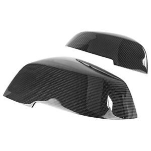 For Bmw 2 3 4 Series Real Carbon Fiber Replacement Side Mirror Cover Trim Cap