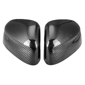 For 2014 2017 Bmw X5 F15 Real Black Carbon Fiber Side Mirror Cover Trim Cap