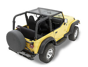 Bestop Bikini Top Black Mesh Fabric Jeep Wrangler Tj 2003 2006 Unlimited Model