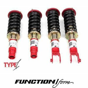 Function Form Type 1 Coilovers Fits Civic Ek F2 ekt1