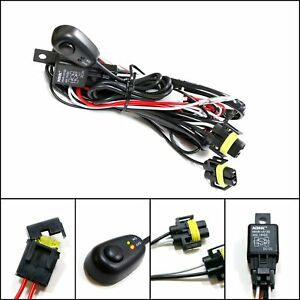Winjet Universal Wiring Harness Include Switch Kit Car Auto Fog Lights Lamp