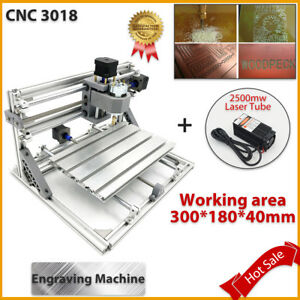 Mini Cnc3018 2500mw Laser 3 Axis Engraving Machine Pcb Milling Wood Router