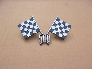 New 1956 Dodge Coronet Custom Royal D500 Cross Checkered Flag Emblem