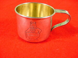 Vintage Gorham Sterling Silver Child S Cup Rabbit 610 Engraved Gerard