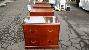 File Cabinet 2 Drawer Lateral 36 Walnut W lock We Deliver Locally Northern Ca