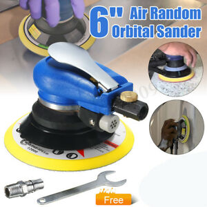 6 Air Palm Random Orbital Sander 10000 Rpm Auto Body Orbit Da Sanding Pneumatic