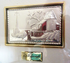 Sterling Silver Picture Frame By Argenti Made In Italy Sea Signed