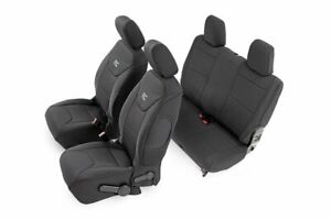 Rough Country Neoprene Seat Cover Sets Black Fits 2011 2012 Jeep Wrangler Jk