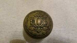 Antique Victorian Solid Brass Door Knob F 22700 Reading Creston