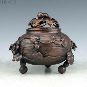 China Handmade Antique Bronze Gourd Wangcai Incense Burners