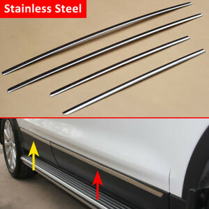 For Ford Escape Kuga 2013 2019 Steel Door Body Strips Molding Accessories Trims