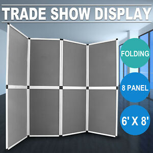6x8 Folding 8 Panels Trade Show Display Booth Advertising Presentation Tabletop