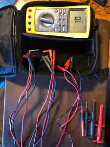 Fluke 789 Processmeter W Leads has Protective Plastic Film Over Screen