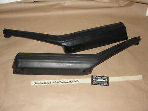 Oem 1986 86 Pontiac Firebird Trans Am Left Right Door Panel Arm Rests Black