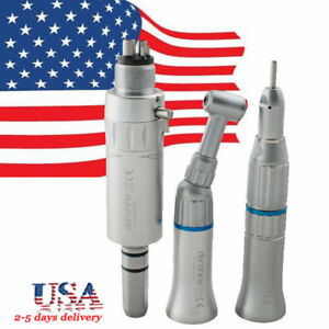 Us dental Slow Low Speed Handpiece Kit Push Button Contraangle 4h E type Fit Nsk