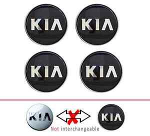 Kia Wheel Center Hub Caps Black For Sportage Ceed Ruo 52960 3w200 4pcs