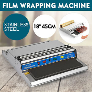 18 Food Film Wrapper Wrapping Machine Sealer 270w Supermarket Stainless Steel