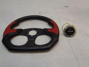 1 Used Momo Corsa Racing Black And Red Racing Wheel With Horn R31