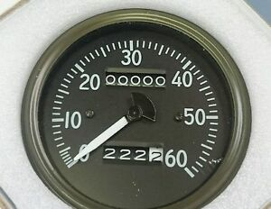 Willys Mb Late Short Needle Speedometer Correct Fonts And Luminous Needle