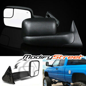 For 94 01 Dodge Ram 1500 94 02 2500 3500 Manual Lh Rh Flip Up Tow Side Mirrors