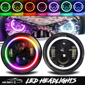For 1990 1997 Mazda Miata Mx5 Mx 5 7inch Rgb Halo Led Headlights W drl Combo Kit