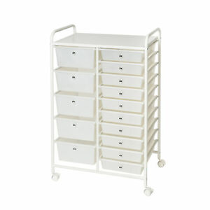 Rebrilliant Daly Organizer 15 Drawer Rolling Storage Chest