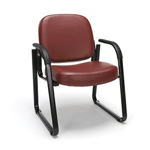 Ofm Reception Chair With Arms Anti microbial anti bacterial Vinyl Guest Chair