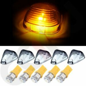 5 Smoke Cab Roof Running Marker Light Lens Free Leds For Ford F 150 Super Duty