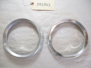 1959 1960 Oldsmobile Headlight Trim Beauty Rings Oem Two Rings Only