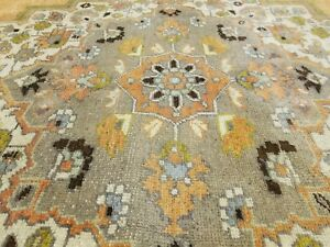 Exquisite Antique Cr1900 1939 S Muted Dye Wool Pile Oushak Area Rug 7 X 11 10