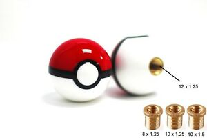 Jdm Glossy Pokemon Pokeball Round Ball Racing Shift Knob M8 M10 M12 Thread