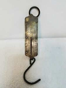 Vintage Chatillons Spring Balance Hanging Scale 50 Ounces Brass