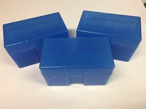 Lot of 3 Midway 510 Flip-Top Ammo Box 25-06 270 30-06 Large Rifle New Old Stock