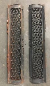 Vintage Antique Cast Iron Fireplace Frontal Angled Grate Replacement Set