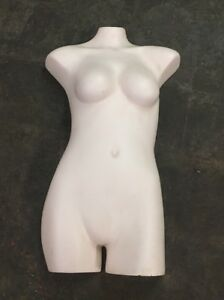 Vintage Female Fiberglass Light Toned Torso Antique Store Display Mannequin 1
