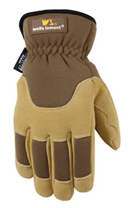 Mens Deerskin Winter Work Gloves Very Warm 100 gram Thinsulate Ultra Comfort