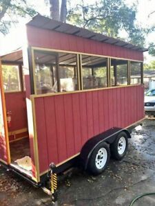 Very Clean 2016 7 X 14 Bbq Pit Used Barbecue Concession Trailer For Sale I