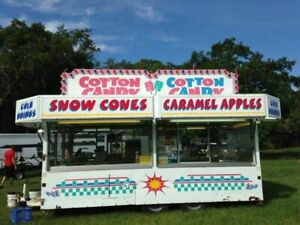 16 2005 Show Me Carnival Candy Concession Trailer mobile Food Unit For Sale I