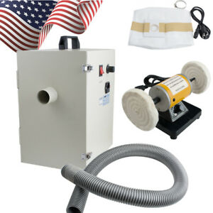Us Dental Dust Collector Vacuum Collecting Cleaner Device Lathe Desk Equipment