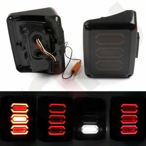 For Jeep Wrangler Jk 07 16 Led Tail Light Brake Turn Signal Light Smoke Reverse