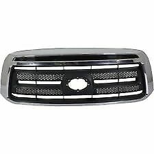 New 2010 2013 Toyota Tundra Base Front Bumper Upper Grille W o Chrome W o Sport